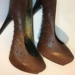 Zigi NY Leather Studded Heels